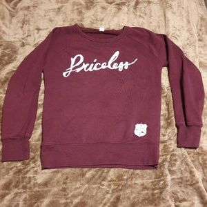 Maroon Lightweight Sweatshirt (size small)
